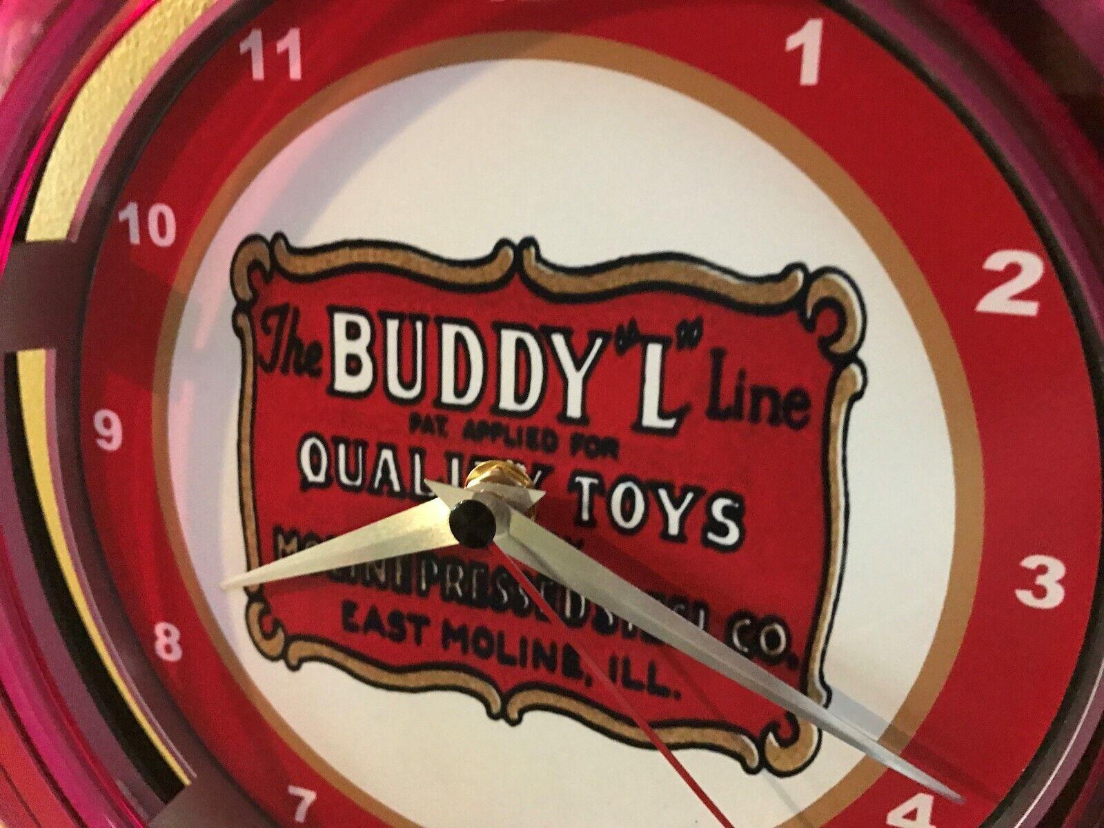 Buddy L jouet voiture camion Magasin Publicitaire Man Cave Neon Horloge murale Signe