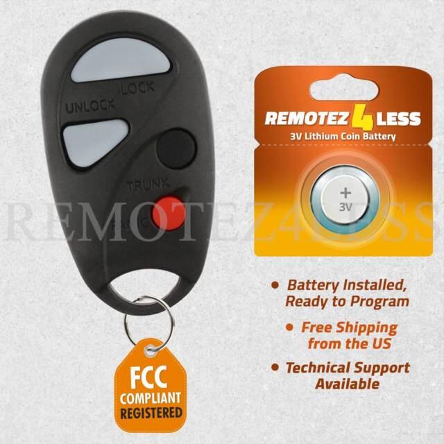 Keyless Entry Remote for 2000 2001 Infiniti I30 Car Key Fob Control