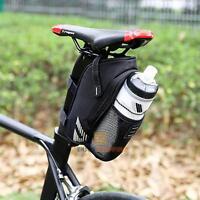 Bicycle Saddle Bag Pannier Bike Seat Bag Pouch Rear Tail Storage Bottle Holder