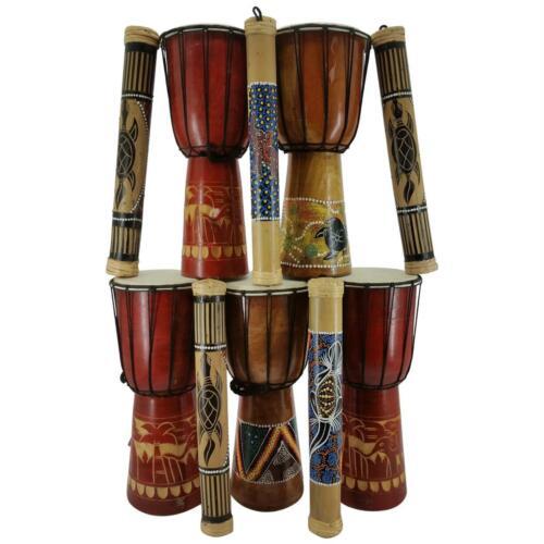 40cm Regenmacher B Ware 2 Wahl 10er Set 40 cm Djembe Trommel Bongo Holz Drum