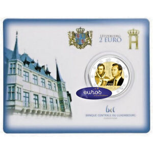 Coincard-2-euros-BU-Luxembourg-2018-Grand-Duc-Guillame-Ier-Mintmark-St-Selve