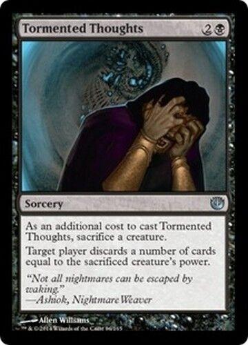 4x MTG Magic JOU - English//VO Tormented Thoughts//Pensées tourmentées