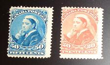 Canada stamp pair #46-47  mint OG HR F