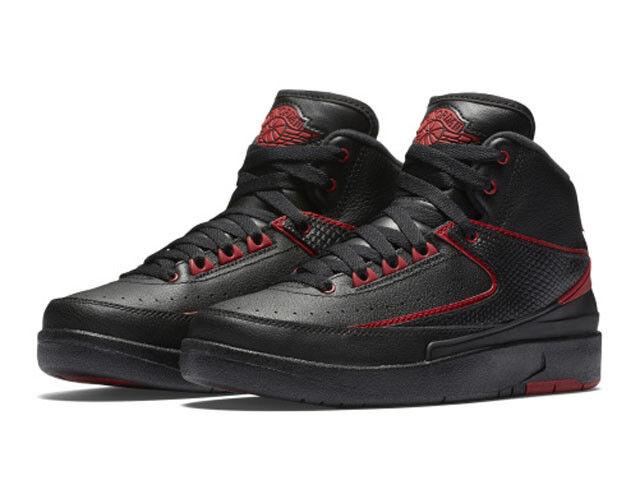 Kids Air Jordan 2 II Retro GS Alternate 87 Black Gym Red 834276-001 US 5y  for sale online  2e57dc396