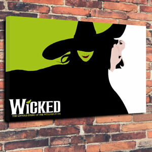 Wicked Musical Printed Box Canvas Picture A130x20 30mm Deep