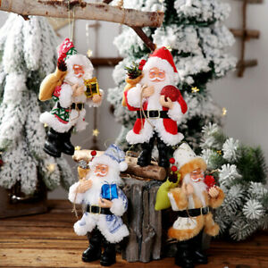 Christmas-Tree-Pendant-Candy-Bag-Ornaments-Xmas-Decor-Santa-Claus-Party-Gift-CRI