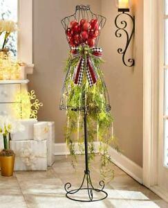 Vintage-Dress-Form-Metal-Mannequin-Sew-Dressmaker-Decorative-Display-Functional