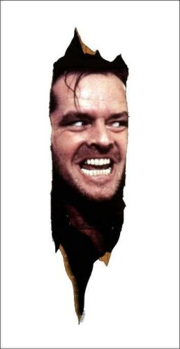 The Shining Voici Johnny repositionnable Graphic Decal Autocollant-Beau Cadeau!