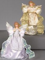TRADITIONAL DELUXE FAIRY ANGEL CHRISTMAS XMAS TREE TOP TOPPER DECORATION 20CM BN