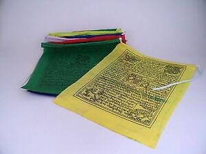 Antiquitäten & Kunst 3 Rollen Tibet Gebetsfahnen Polyester Je 1,6m Lang 10 Bunte Fahnen à 16x19cm Neu