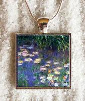 Pendentif Collier Claude Monet Fleurs Nympheas Pendaglio Ciondolo Collar Bijoux