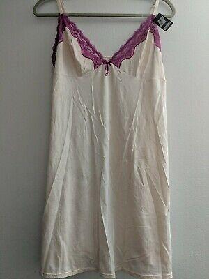 Ebony Size S Heidi By Heidi Klum Lace-Neckline Slip H70-1168B Silver Peony