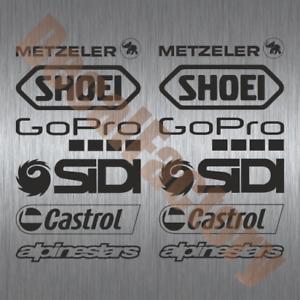 Details Zu Aufkleber Sponsoren Set Motorrad Racing Decal 12 Teilig Rennsport Motogp Msp002