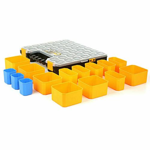 Tough Master Pro Outil Organisateur 15 compartiments de rangement Plastique Carry Case Twins