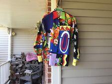 Women's Gianni Versace Sz 42 Vintage Funky Paisley Heart Blouse Top Shirt RARE