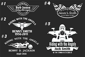 In Loving Memory Car Decals >> Details About In Loving Memory Car Window Decal Bikers Riding With The Angels 11