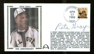 Pete-Gray-Signed-FDC-First-Day-Cover-Autographed-St-Louis-Browns-56246