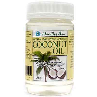 Certified Organic COCONUT OIL 300g ~ Virgin ~ Cold Pressed ~ Premium