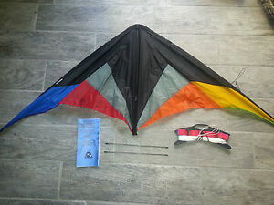 HQ QUICK STEP II Beginner Sport Stunt Kite, BLACK RAINBOW, New! Never Flown.