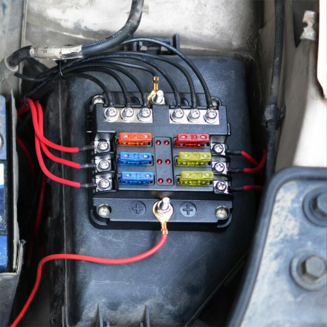 6way Auto Car Power Distribution Blade Fuse Holder Box Block Panel Board  12v 24v for sale online | eBayeBay