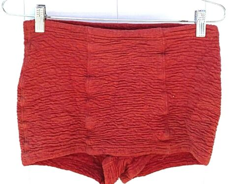 Vintage 1930s Mens Bathing Suit Shorts Trunks Red