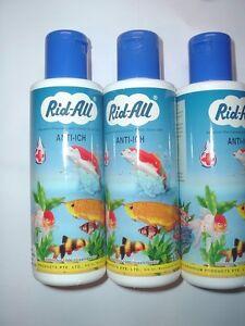Lot of 3 200 ml rid all aquarium anti ich medication for Methylene blue fish
