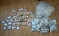 Clear Diy Fillable Plastic Ball Heart Star Bulb Craft Ornaments Lot Xmas