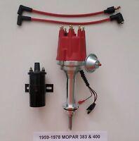 Small Cap Big Block Mopar 59-78 383 400 Pro Series Hei Red Distributor +45k Coil