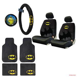 Image Is Loading New 9pcs Set Batman Car Truck Seat Covers