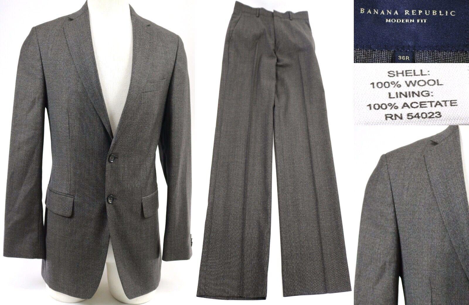 Banana Republic Men's  Suit Modern Fit Size 36R Taupe Excellent 30 X 30