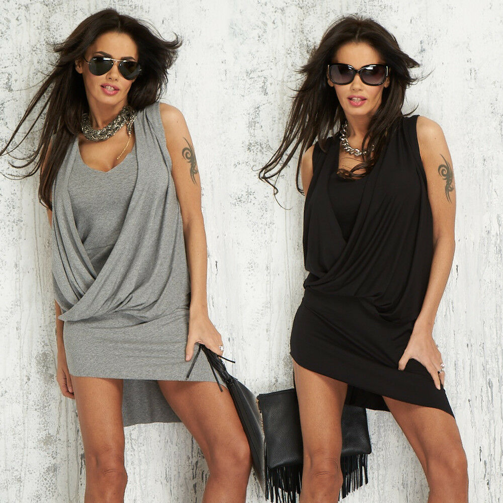 BY ALINA Damenkleid Minikleid Clubkleid Cocktailkleid Longshirt XS-M  A123