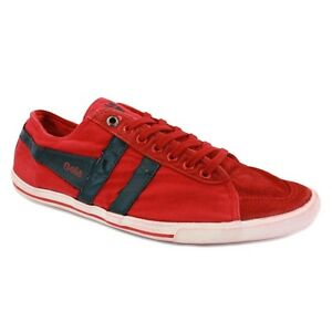 Image is loading Gola-Quota-Red-Black-Men-039-s-Trainers-