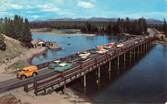 Postcard Fishing Bridge Yellowstone Lake Wyoming   eBay