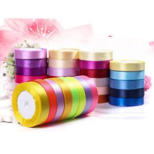 25-Yards-1-034-25mm-Satin-Ribbon-Wedding-Party-Craft-DIY-Hair-Bow-Garden-Xmas-New
