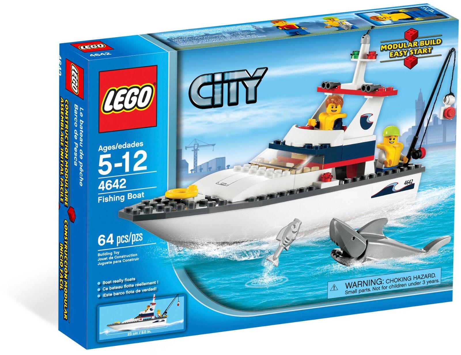 Lego City - 4642 Fishing Fishing Fishing Boat Bateau de pêche YACHT-NOUVEAU & NEUF dans sa boîte 7525cd