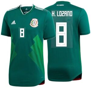 Image is loading ADIDAS-HIRVING-LOZANO-MEXICO-AUTHENTIC-MATCH-HOME-JERSEY- 0bc9245e06d6