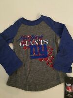 Nfl York Giants Girl Raglan T Shirt Top Tee Size Small Medium Large 4 5 6 6x
