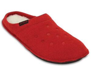 varietà di design design senza tempo nuovo massimo Dettagli su CROCS inverno pantofole rosse calde comode - winter slippers  pepper