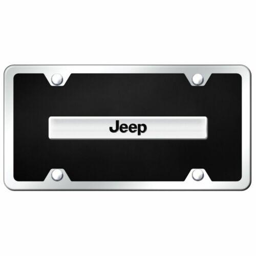 B.JEE.CBK Jeep Black and Chrome Plastic License Plate Frame