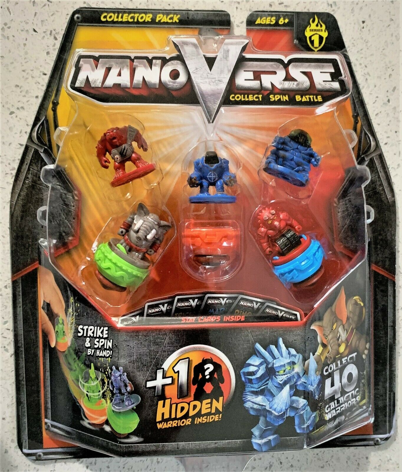 NanoVerse Kids Fighting Battle Spin Top Toy Collector Pack Series 1