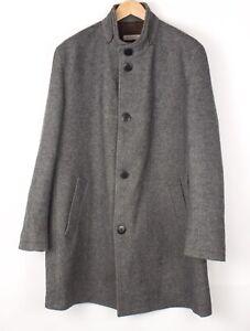 Bugatti Herren Wolle Acryl Freizeit Mantel Jacke Mantel Größe 56 - 2XL BAZ921