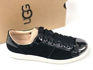 dd8ca43e40f Details about Ugg Australia Women's EVANGELINE BLACK 1092533 Casual Fashion  Chrome Toe Sneaker