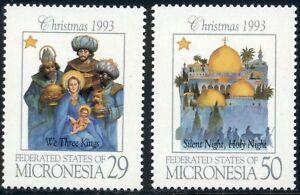 Micronesia-Scott-184-185-MNH-Christmas-1993