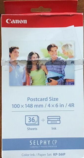 Canon Selphy CP KP-361P Postcard Size Color Ink/Paper Set