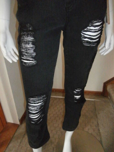 Mudd Distressed Destructed Black Crop Jeans Capris Kohls Junior You Pick Size