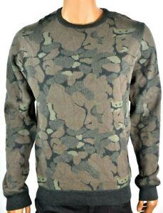Buffalo-David-Bitton-Mens-Sweater-New-S-M-L-XL-XXL-Camo-Long-Sleeves-Crew-Neck