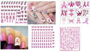 Breast-Cancer-Collection-Nail-Art-Temporary-Tattoos-Nail-Stickers