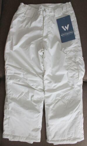 White Sierra Girls Size XS 6//6X Cruiser Insulated Pants Milky White Snowpants