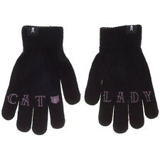 Sourpuss Cat Lady Knit Gloves Black Tattooed Knuckles