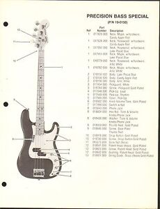 Fender Bass Guitar Accessories : vintage ad sheet 3609 fender guitar parts list precision bass special ebay ~ Russianpoet.info Haus und Dekorationen